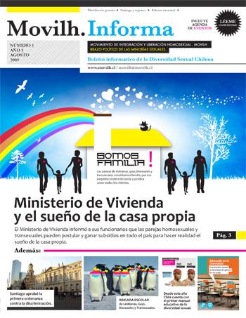 Movilh Informa / Agosto / Gay Lesbiana Transexual Chile 2009