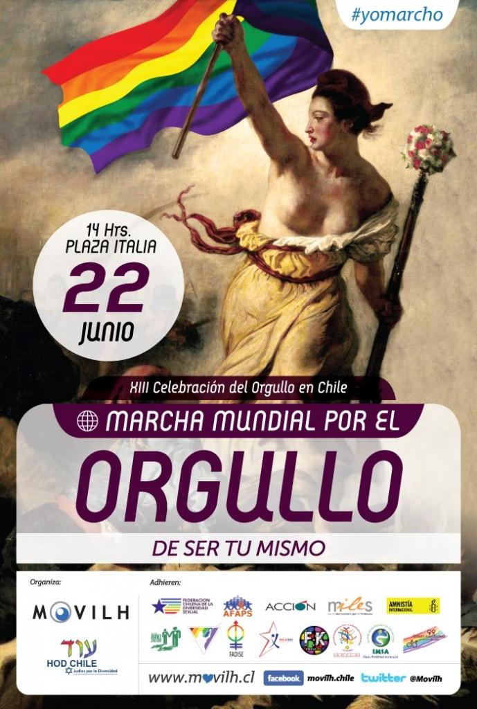 Afiche Marcha Mundial del Orgullo 2013